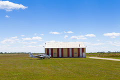 Countryside Airport. With Blue Sky Stock Images