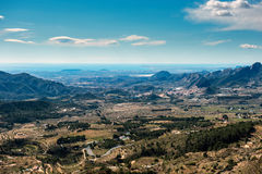 Countryside of Alicante Royalty Free Stock Photography