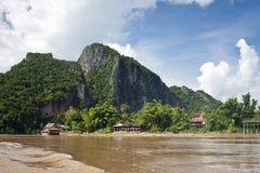 Countryside along Mekong river Stock Photography