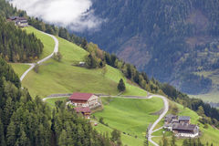 Countryside alp landscape Royalty Free Stock Image
