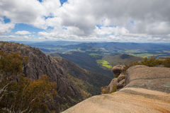 Countryside and Alps view from Mount Buffalo National Park Stock Images