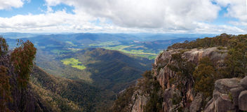 Countryside and Alps view from Mount Buffalo National Park Stock Image