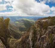 Countryside and Alps view from Mount Buffalo National Park Royalty Free Stock Image