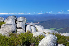 Countryside and Alps view from Mount Buffalo National Park Royalty Free Stock Photo