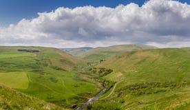 The countryside of Alwinton, Northumberland stock photo