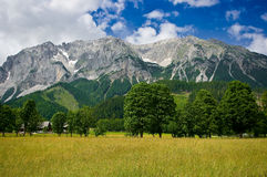 The countryside around the town of Ramsau am Dachstein. Royalty Free Stock Photos