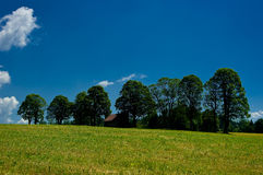 The countryside around the town of Ramsau am Dachstein. Stock Image
