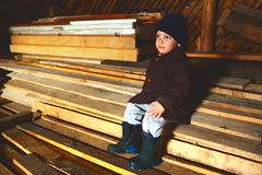 Countryside attic Stock Photography