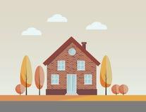 Countryside autumn house Royalty Free Stock Photos