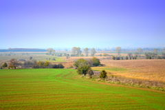 Countryside autumn panorama Stock Photo