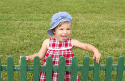 Countryside baby girl Royalty Free Stock Photo
