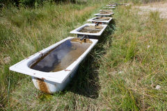Countryside bathtub Royalty Free Stock Photography