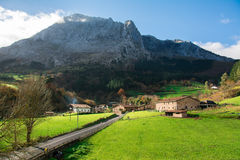 Countryside at biscay, spain. Landscape at biscay coutryside in basque country Stock Images