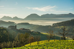 Countryside at biscay, spain. Landscape at biscay coutryside in basque country Stock Photography