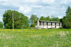 Countryside buildings in summer Royalty Free Stock Images
