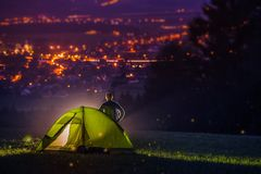 Countryside Camping Stock Photos