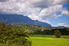 Countryside in central Laos Stock Photography
