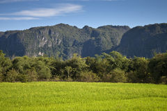 Countryside in central Laos Royalty Free Stock Images