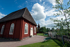 Countryside chapel in Sweden Royalty Free Stock Photography