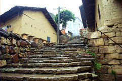 Countryside in China. The stone stairway of countryside in China Stock Photo