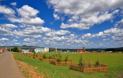 Countryside of China. Countryside in inner mongolia China Royalty Free Stock Photos