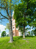 Countryside church building in summer Stock Photo