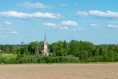 Countryside church in summer Royalty Free Stock Photo