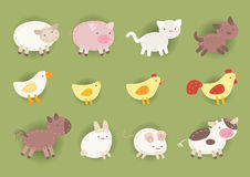 Countryside cloth animals icons. Countryside animals made out of cloth, Vector illustration Royalty Free Stock Photos