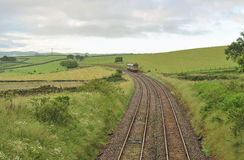 Countryside commuter train, Yorkshire Stock Photos