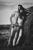 Countryside couple portrait Stock Photo