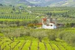 Countryside in Crete, Greece Royalty Free Stock Photo