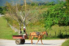 Countryside of Cuba and its people Stock Photography