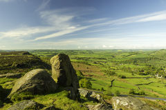 Countryside from Curbar edge Stock Image