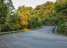 Countryside curve road Royalty Free Stock Images