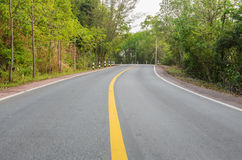 Countryside curve road Royalty Free Stock Photo
