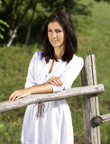 Countryside cute girl portrait Royalty Free Stock Images
