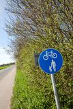 Countryside cycle and pedestrian lane Stock Image