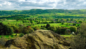 Countryside in Derbyshire Peak District National P Stock Images