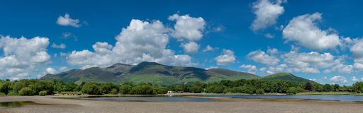 Countryside England - Lake district. Panorama over the mountains at Keswick in the Lake District, England Royalty Free Stock Photography
