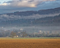 Countryside in Evian-les-Bains in France in winter Royalty Free Stock Images