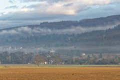 Countryside in Evian-les-Bains in France in winter. In the New year Stock Photos