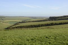 Countryside at Falmer. Sussex. England Stock Images