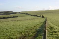 Countryside at Falmer. Sussex. England Stock Photography