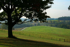 Countryside. And farmland in hickory, pennsylvania, usa royalty free stock image