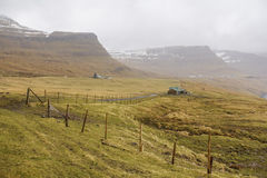 Countryside on Faroe Islands Royalty Free Stock Images