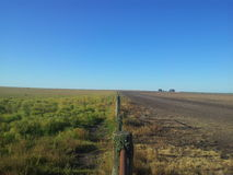 Countryside. Fencing in a field in Entre Rios, Argentina Stock Photo