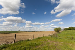 Countryside Fields Landscape. A countryside landscape with fields and fences Stock Images