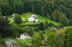 Countryside in the forest. In Salzburg, Austria stock images