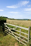 Countryside Gate. A gate located in the English countryside Stock Photos