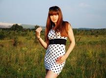 Countryside Girl stock photo